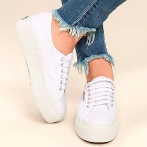 New Superga Linea Up & Down Platform Sneakers